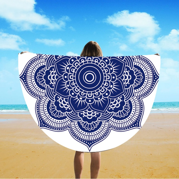 Direct Selling Spot European And American Style Silk Round Beach Towel St06-111