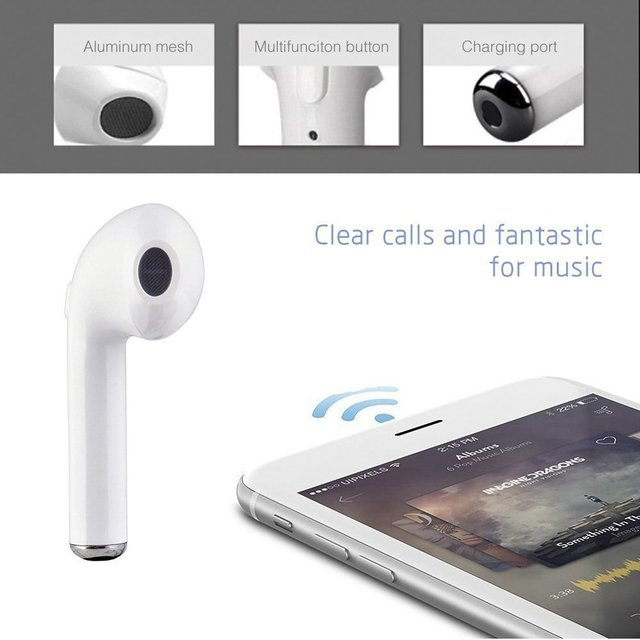 I7s TWS bluetooth headset wireless sports with charging bin bluetooth headset i7s TWS is suitable for iphone, samsung and androi