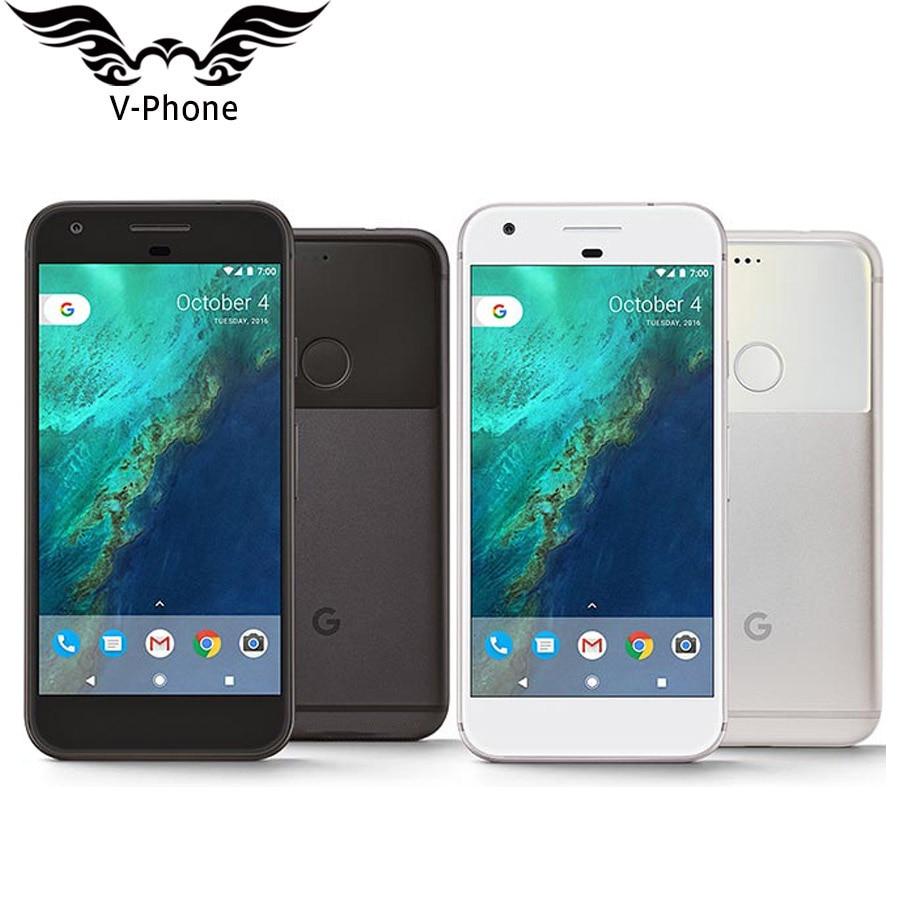 Original NOUVEAU Google Smartphone 5.0 ''L'UE Version Google Pixel Mobile Téléphone 4G LTE Snapdragon Quad Core 4 GB RAM 32 GB ROM 128 GB ROM