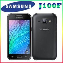 "100% Original Samsung Galaxy J1 J100F Dual Sim Unlocked Cell Phone 4.3 "" screen Quad core 4G FDD-LTE Free shipping"
