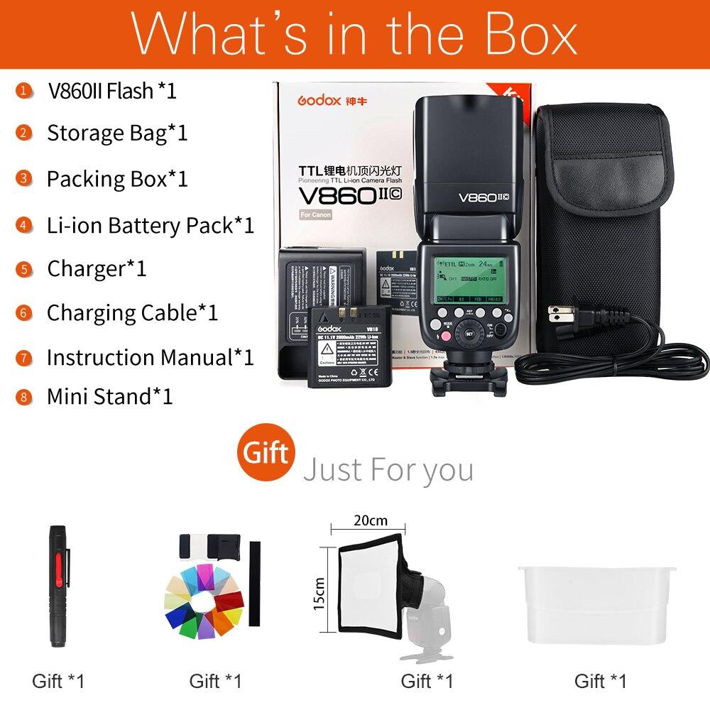 Image 2 - Godox V860II S V860II C 860II N V860II F V860II O GN60 TTL HSS Li ion Battery Speedlite Flash for Sony Nikon Canon Olympus Fujiflash for sonyspeedlite flashgodox ving -