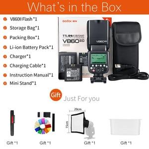 Image 2 - Godox V860II S V860II C 860ii n V860II F V860II O gn60 ttl hss li ion bateria speedlite flash para sony nikon canon olympus fuji