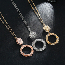 2019 new fashion geometric small pendants trend exaggerated necklace ladies exquisite ornaments student popular