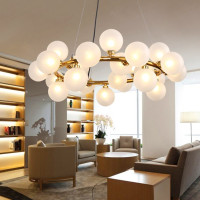 Magic Bean Led Pendant Chandelier Living Dining Room Shop Modern Led Striplight Glass Pendant Lamp