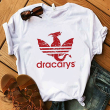 Harajuku Vintage Style Dracarys Sport T Shirt Game Daenerys Drogon Fire Printed T-Shirt Women Camisetas hombre Tshirt