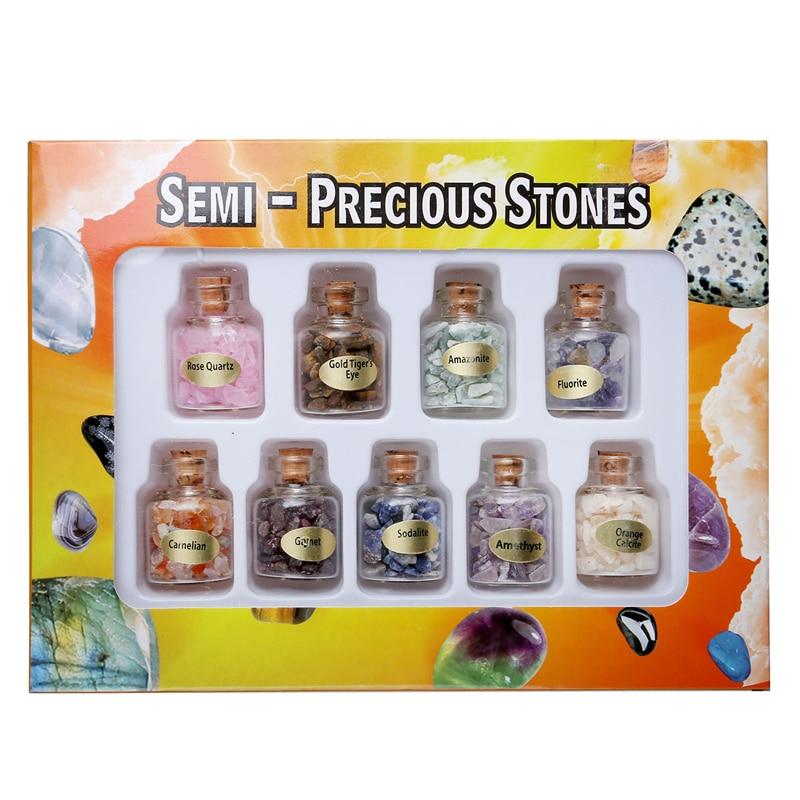 Жаңа келу 9 Mini Natural Semiprecious Gem тас - Үйдің декоры - фото 4