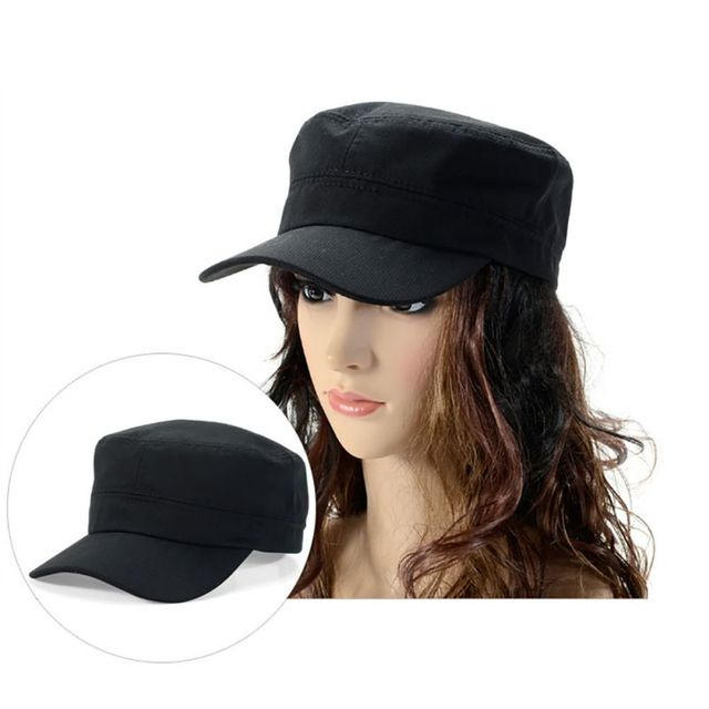 Women s Military Hat Army Cadet Patrol Castro Cap Driving Summer Hats For  Men Women 9760ca0011