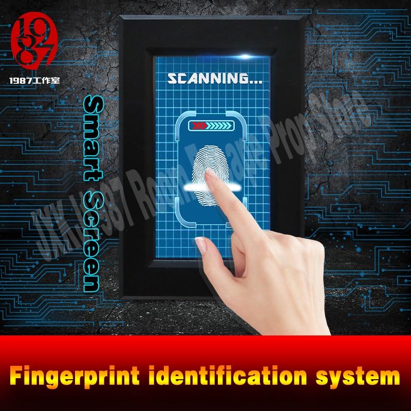 Finger Print Scanner Prop Escape Room Puzzle Smart Screen Fingerprint Identification System Scan Fingerprint Unlock JXKJ1987