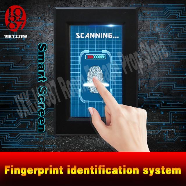 Parmak izi tarayıcı prop kaçış odası bulmaca akıllı ekran parmak İzi tanıma sistemi tarama parmak izi kilidini JXKJ1987
