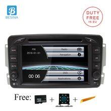 Besina 2 Din Autoradio Per Mercedes Benz CLK W209 W203 W208 W463 Vaneo Viano Vito BT SD di Navigazione GPS car Multimedia Lettore DVD