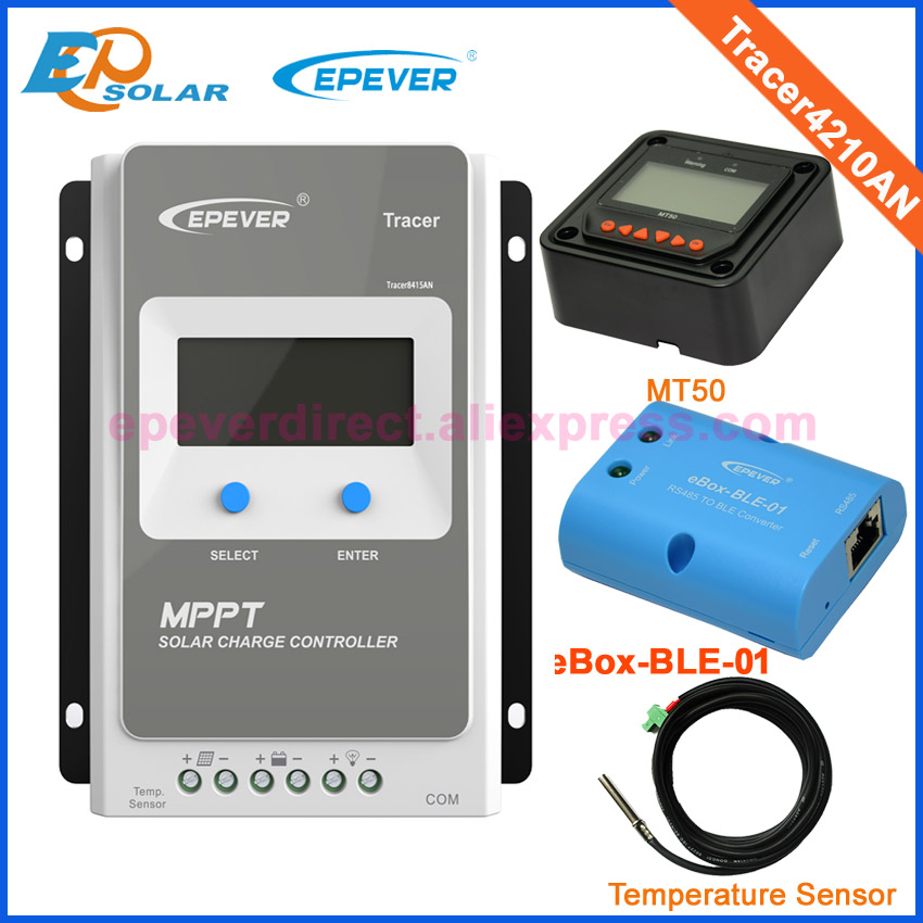Tracer Solar Charge Controller MPPT 40A 12V 24V LCD Solar Panel Charge Charging Controller Voltage Control  USB & temperaturer 12v 24v 40a mppt pwm solar regulator with lcd display usb intelligent streetlight three time solar charge controller y solar