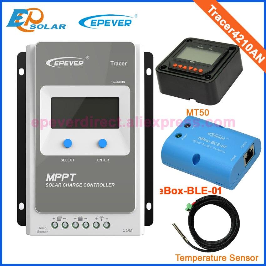 Tracer Solar Charge Controller MPPT 40A 12V 24V LCD Solar Panel Charge Charging Controller Voltage Control USB & temperaturer