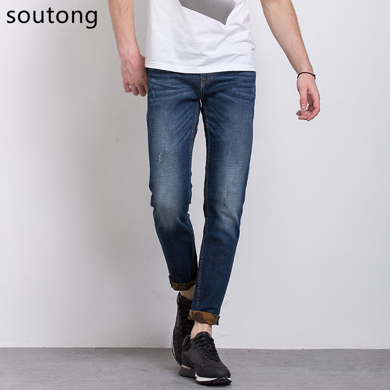 Soutong Jeans Fashion Jeans Men Regular Leisure Straight Pants Casual Trousers Men Jeans Size 28-36 7318 free shipping 2pcs 1 25 normally open water solenoid valve 2w350 35 no ac110v
