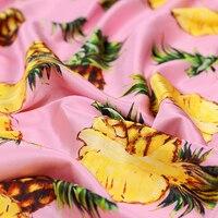 Pineapple Pink Silk Fabric For Summer Long And Short Dress Shirt Silk Satin And Silk Crepe