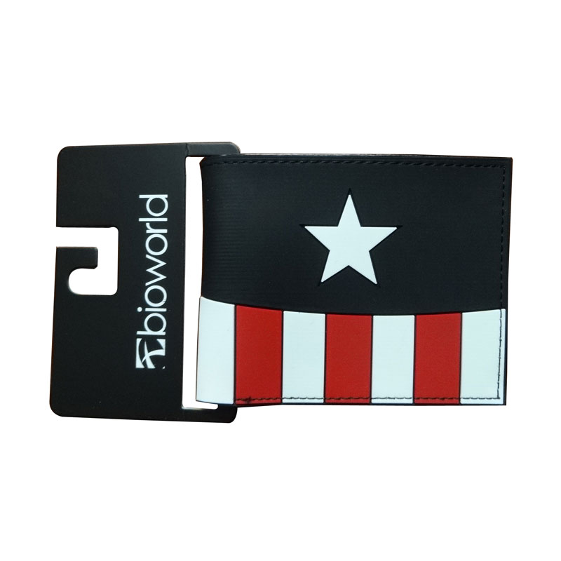 New Arrival Captain America Purse Super Hero Wallets PVC Card Holder Bags carteira masculina Casual Fashion Short Wallet for Men