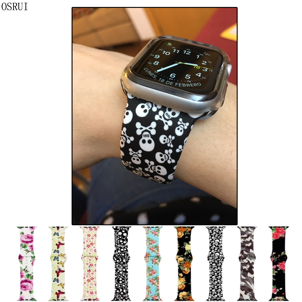 Strap For Apple Watch Band 4 44mm 40mm Iwatch 3 Band Correa Aple 42mm 38mm Sport Silicone Wrist Bracelet Belt Watch Accessories
