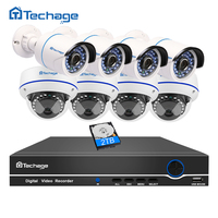 Techage 8CH 1080P HDMI NVR POE CCTV System Vandalproof Anti vandal Dome Indoor Outdoor IP Camera Video POE Surveillance System