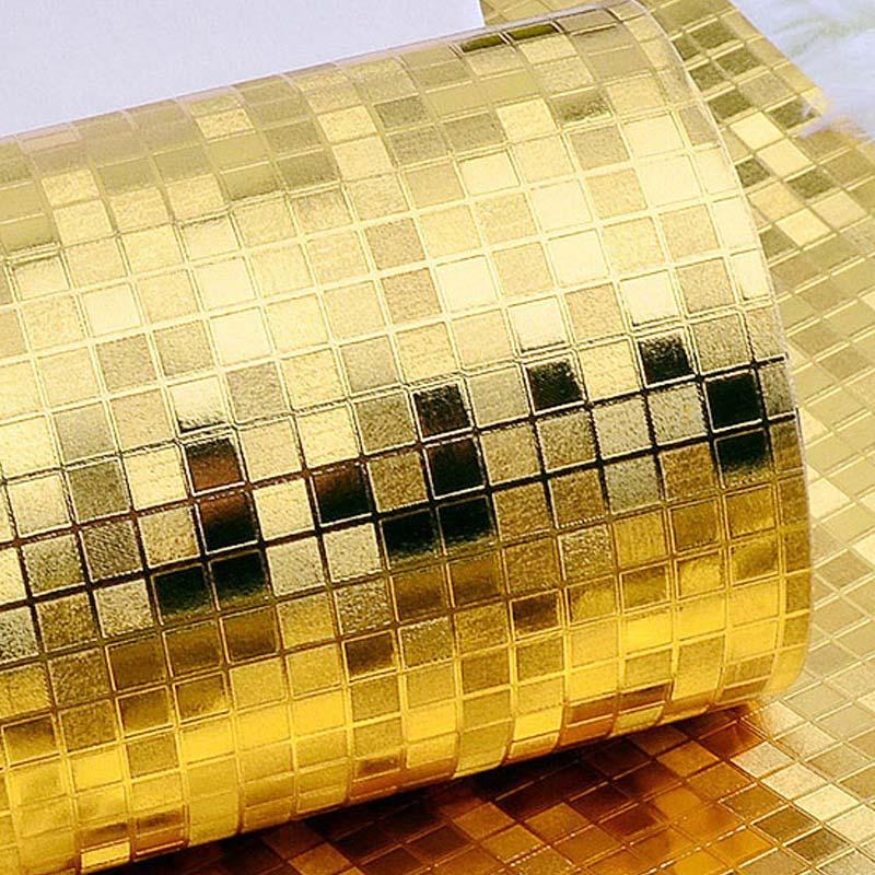 Prateado ouro PVC Papel De Parede Bar KTV Do Hotel Sala de estar Home Decor Papel De Parede Para Paredes 3D Estéreo Em Relevo Mosaico papel de Parede do Vinil