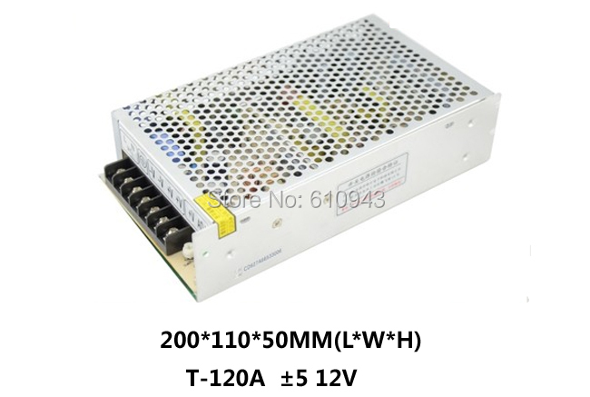 T-120A Free Shipping120W MINI triple Output Switching power supply Output Voltage 12V 5V AC-DC T-120A