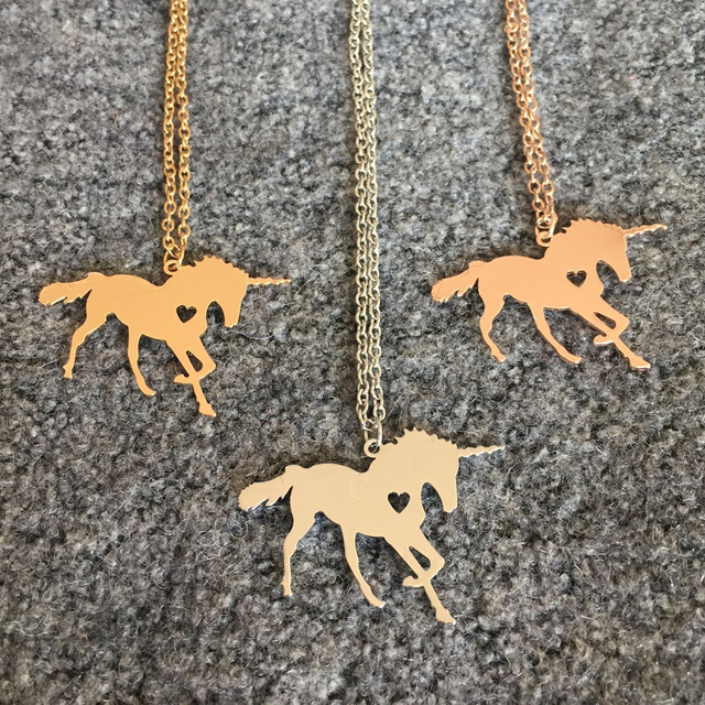 Unicorn Necklace Magical Jewelry