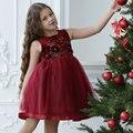 2-8 Años Niñas Otoño Invierno Princesa vestido Sólido vestido de Encaje de partido de Las Muchachas Niño Niños Vestido de Los Cabritos para Las Muchachas Vestidos de primavera