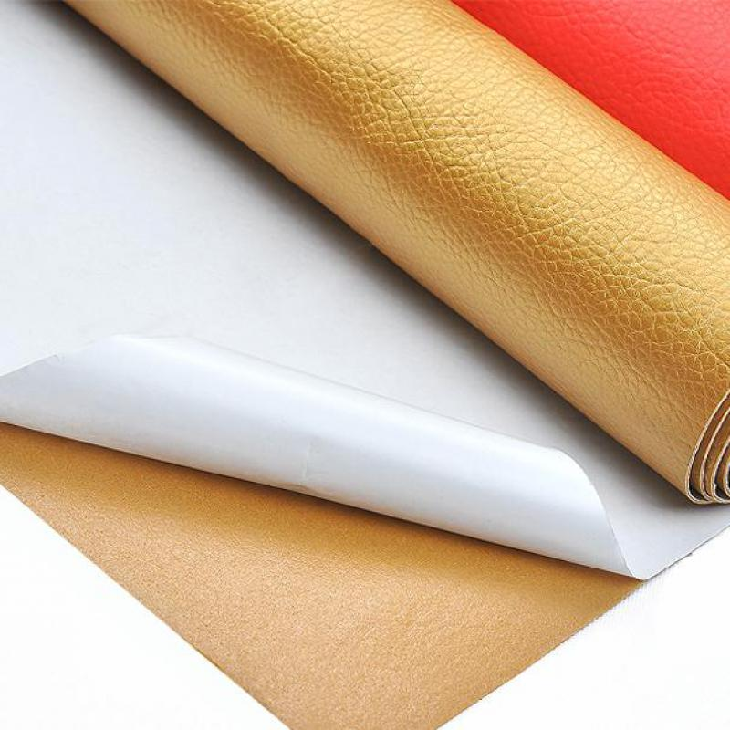 Glue Adhesive Pu Patterned Leather Upholstery Fabric For Furniture Sofa Tissu Imitation Leatherette Polipiel Ecopelle Tessuto