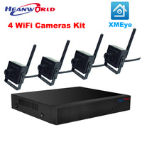 4pcs HD Mini WiFi Camera 720P With 4CH 1080P NVR Alarm Systems Security Home Kit Cheap