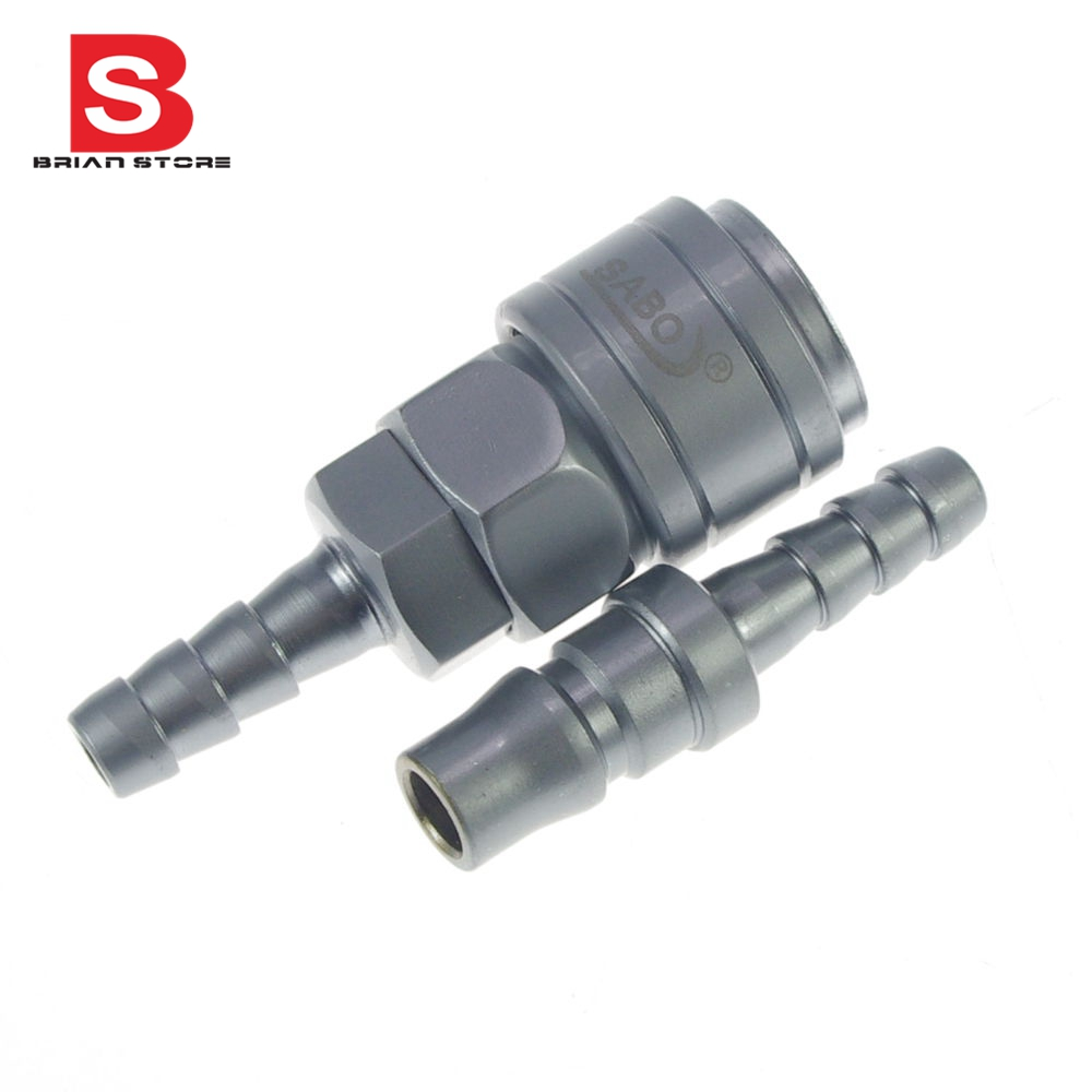 Hose Air Compressor Quick Coupler Connector Steel Self-Locking 12mm hose air compressor quick coupler connector steel self lock sh 40 ph 40