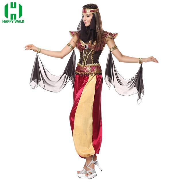 Nouveau déguisement dhalloween Cosplay déguisement cléopâtre reine indienne déesse grecque egypte femmes arabe Costume adulte déguisement fête