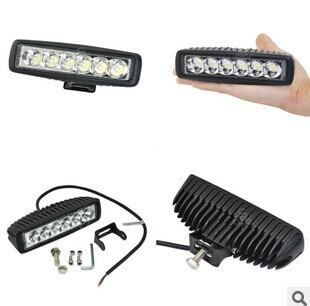 12V 18W LED Work lights Bar for SUV for Jeep Truck Driving Boat Fishing Car Waterproof Off-Road Headlights cree LED working lamp 19inch 40w 6500k ip67 4000lm car led high power working light headlights for truck outdoor work lamp