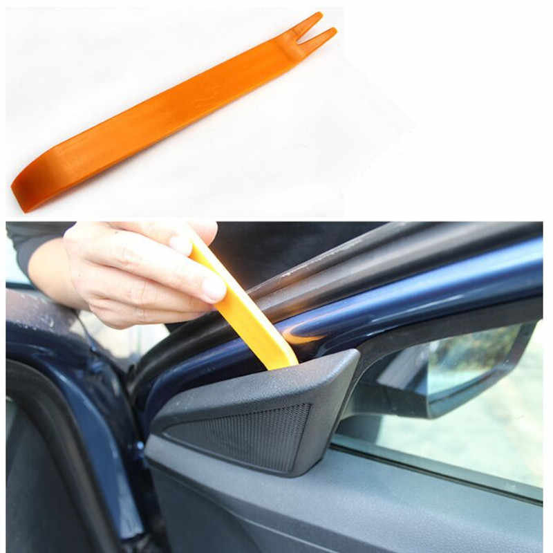 4Pcs Auto Mobil Radio Pintu Panel Klip Trim Dash untuk Opel Astra H G J Corsa Insignia Antara Meriva zafira Mobil Styling Aksesoris