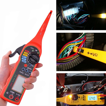 Power Electrical Multi-function Auto Circuit Tester Multimeter Lamp Car Repair Automotive Electrical Multimeter 0V-380V( Screen) promotion multimeter part colorful electrical testing hook clip grabber 8 pair
