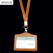 BINXUE Cover Card & ID Holders,Work card identification tag badge Student transit custom LOGO bag Rope width 1.5cm Access contro