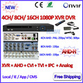 4 8 16 Channel NVR P2P 1080P AHDVR 4 channel Network 8CH DVR ONVIF 2.4 16CH NVR recorder for AHD-H AHD-M 960H D1 3MP IP Camera