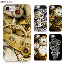 BINYEAE funny Watch movement Clock dial desgin Clear Cell Phone Case Cover for Apple iPhone 4 4s 5 5s SE 5c 6 6s 7 7s Plus