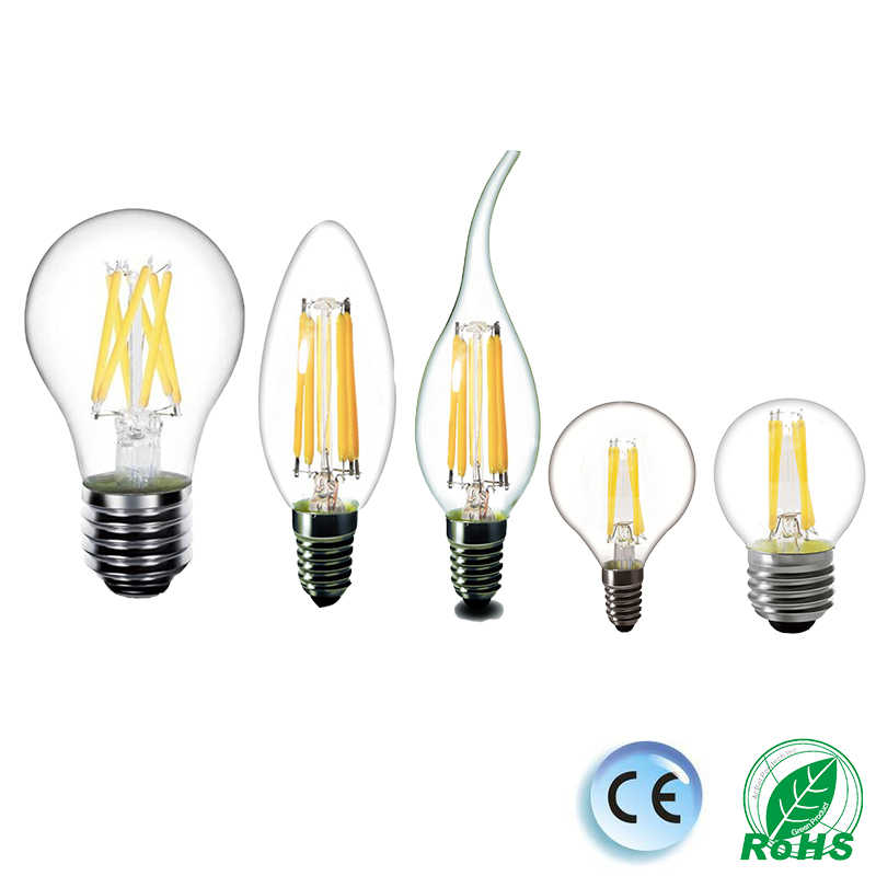 LED Bulb E27 LED Filament Bulb E14 LED Candle Edison Light 220V Glass Bulb Lamp Replace 20W 30W 40W 50W Incandescent