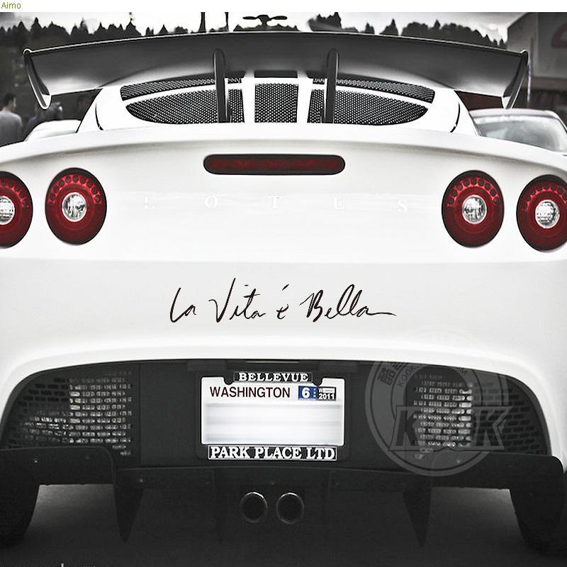 La vita e bella signature car stylingcar body decor vinyl diy refit decals and