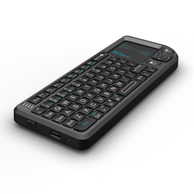 Raspberry Pi-teclado inalámbrico naranja pi 2/3g, teclado de silicona suave, ratón táctil, decodificador de TV inteligente todo en uno