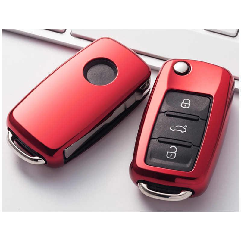 Новый ТПУ solf силиконовый ключа автомобиля чехол для Vw Jetta Golf Passat Beetle поло Bora 2/3 Кнопка ключ защиты аксессуары