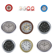 New Wall Clock 1:12 Scale Play Doll Houses Miniaturas Home Decor Accessories Toy Dollhouse Miniature Play Furniture Toys dollhouse 1 12 scale fine miniature furniture white hand painted high quality wall