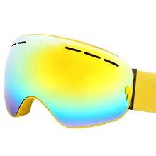 Лыжные Очки UV400 Анти-туман Лыжные Очки Двойной Линзы Лыжи Сноуборд Скейтборд Снег Мотокросс Очки Лыжные Очки