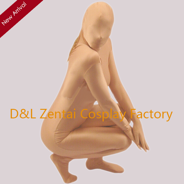 Free Shipping DHL Sexy Adult Special Flesh Color Lycra Spandex Unisex  Zentai Suit For Events and