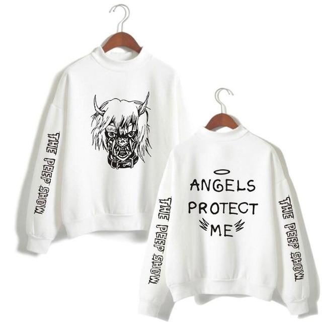 5ebe54429d87b Lil Peep Oversized Hoodie Hellboy lil.peep Men/Women Long Sleeve Fleece  Turtleneck Sweatshirt Hip Hop Streetwear Casual Pullover