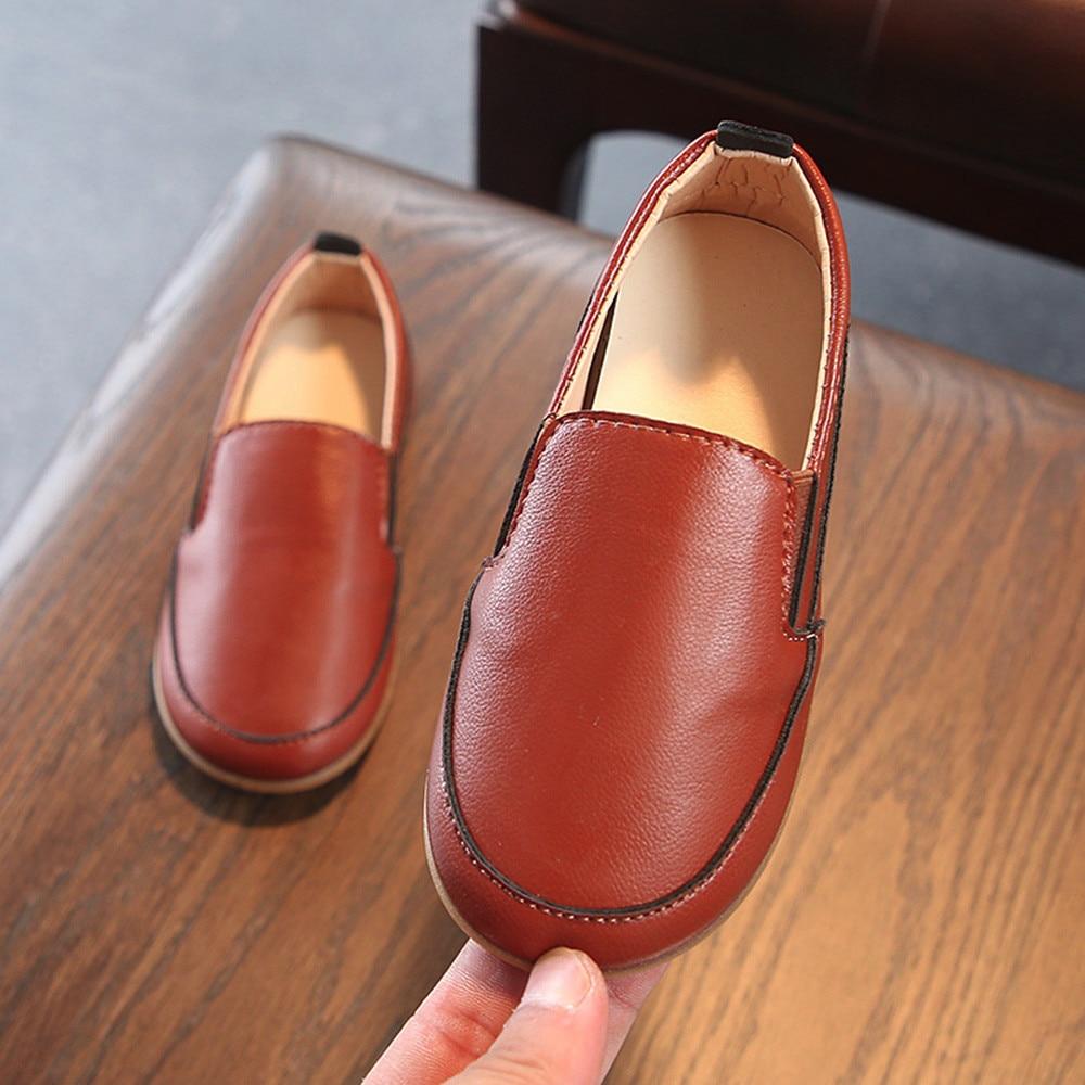 Bébé garçon chaussures cuir semelle souple sans lacet mocassins chaussures garçons mocassins semelle souple bébé chaussures x97 - 2