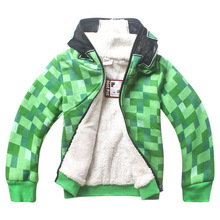 Jacket Minecraft Baby Girls Boys Cartoon Printed Autumn winter Kids clothes Casu