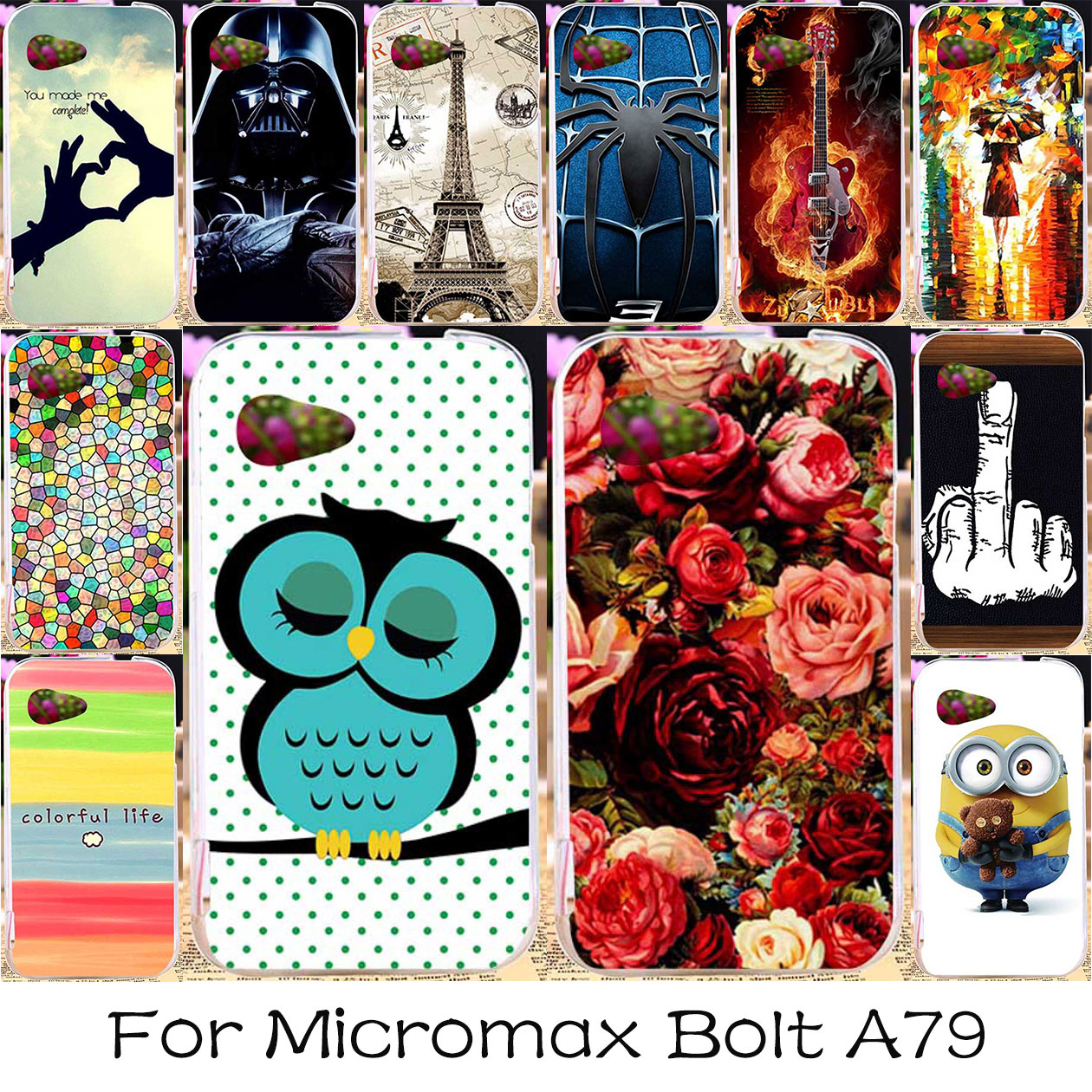 finest selection c6ea1 0fdf1 TAOYUNXI Silicone Phone Case For Micromax Bolt A79 Soft Housing Bag Cover  For Micromax Bolt A79 Skin Shell Back Cover Case