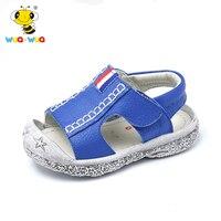 Wua Wua Zomer Zachte Zool Baby Wandelschoenen Voor Infant Jongens Meisjes Schoenen Ademend Sandaal Schoenen Lederen Sandalen Strand