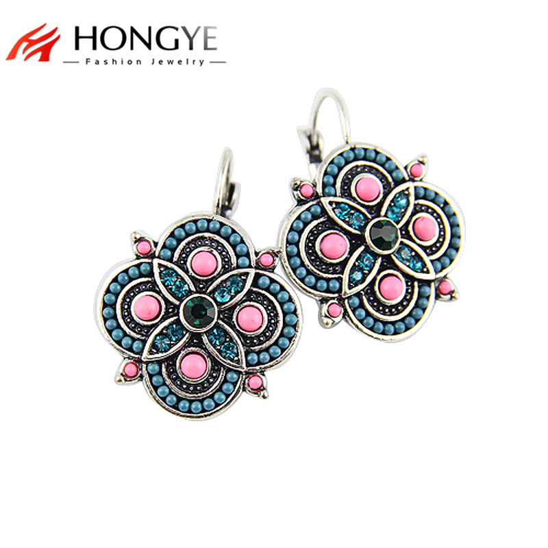 2017 New Arrival Brincos Earrings Vintage Colorful Beads Chas