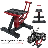 Professional Range Adjustable Motocross Motorcycle Lift Stand Jack Lifter For Maintenance Repair Work Tool
