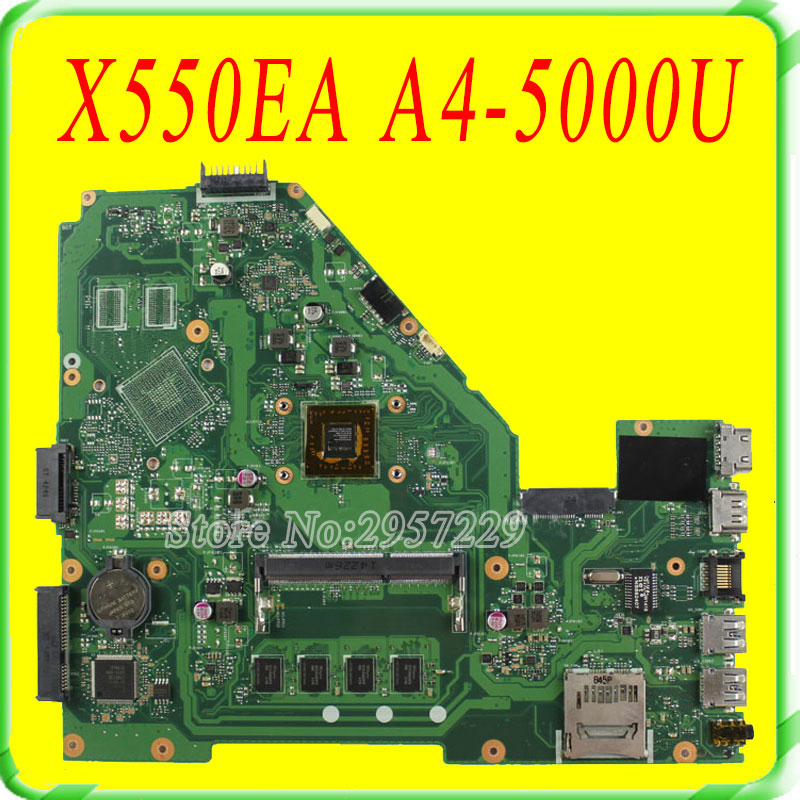 For Asus X550E X550EA X552E X552EA Motherboard X550EP REV2.0 Mainboard With A4-5000 Processor 2G Memory 100% work fully test samsung rs 552 nruasl